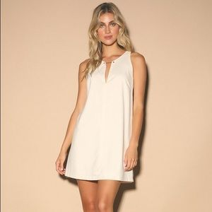 Lulus Near or Bar Cream Shift Dress Size XS New
